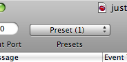 The Presets Menu toolbar item