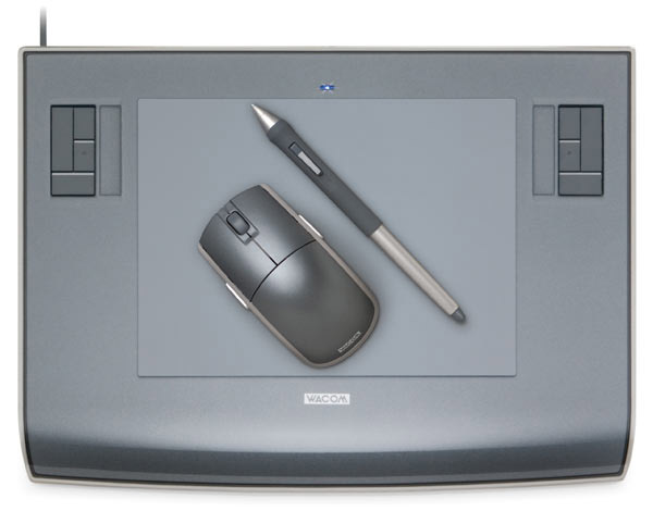 Wacom Tablet with mouse and pen