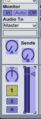Ableton Live fader takeover mode